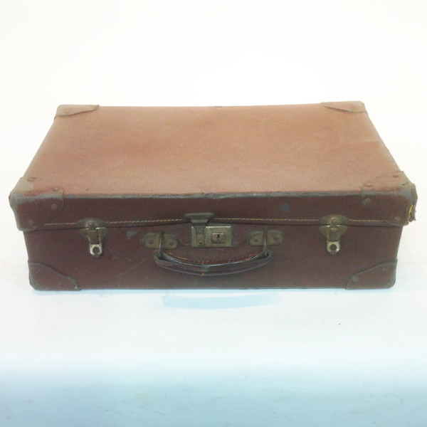 1: Brown Leather Suitcase 3