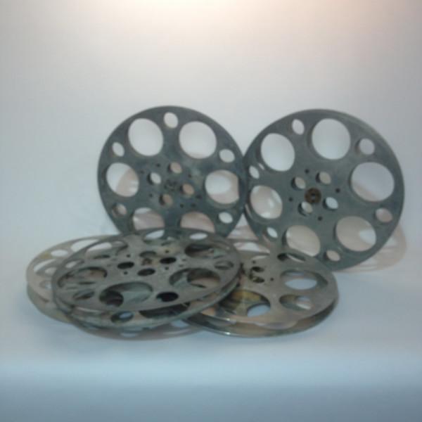2: Large Metal 35mm Film Reels