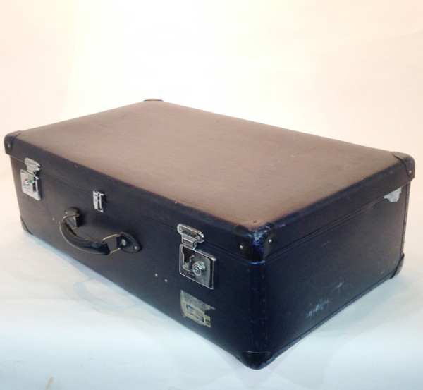 1: Large Dark Blue Travel Trunk
