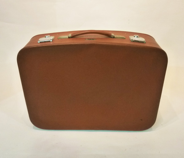 4: Brown Soft Leather Retro Suitcase