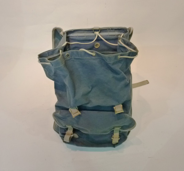 4: Blue Canvas Hikers Backpack