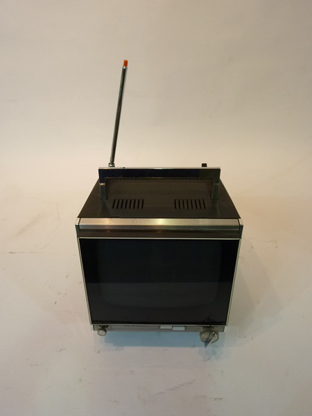 4: Black Mini Portable 1980's TV