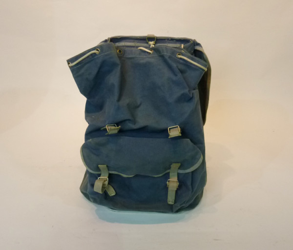 2: Blue Canvas Hikers Backpack