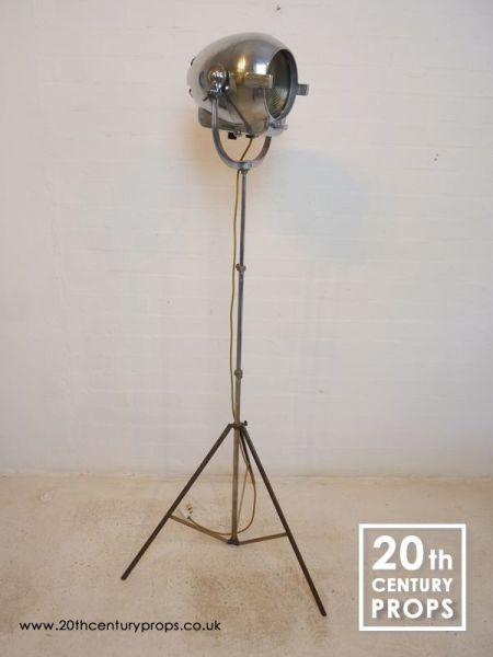 1: Chrome Industrial Floor Lamp