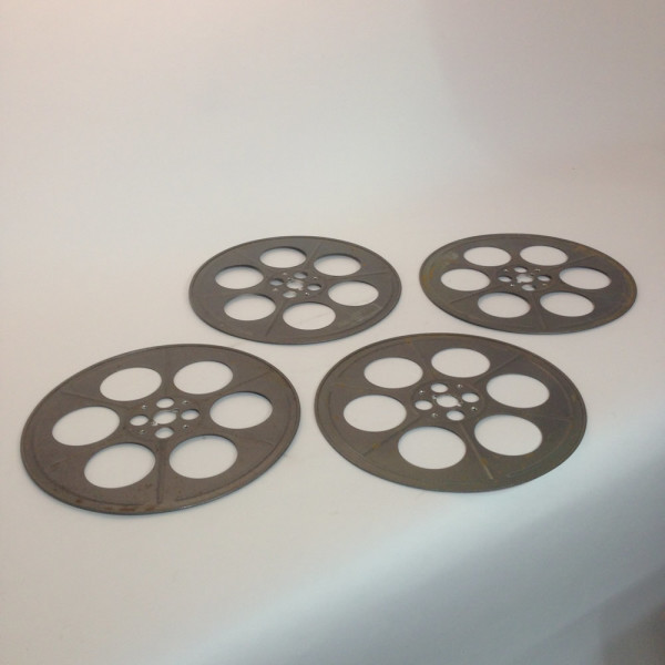 2: Large Metal 35mm Film Reels