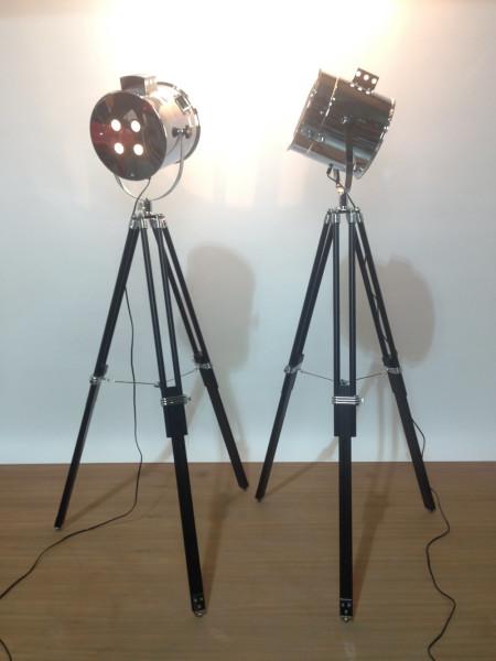 2: Vintage glamour polished chrome spotlight