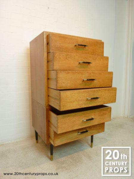 2: Mid Century Modern oak drawers