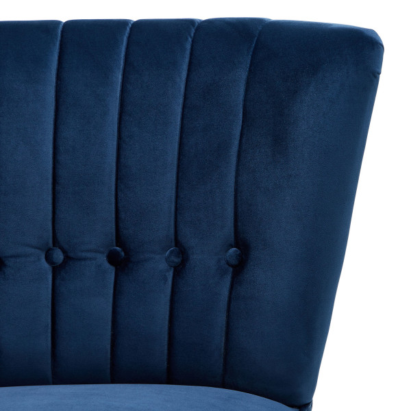 4: Velvet Cocktail Chair - Midnight Blue