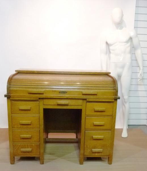 1: Oak roll top desk