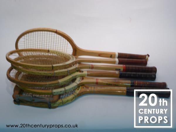 1: Vintage tennis rackets