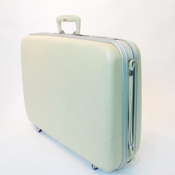 4: White Hard Shell Suitcase