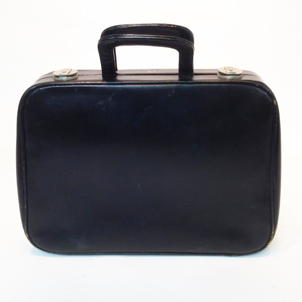 3: Thin Black Soft Leather Suitcase