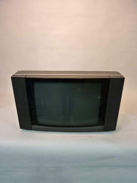 1: Large Black Widescreen BeoVision 1980's Curved TV