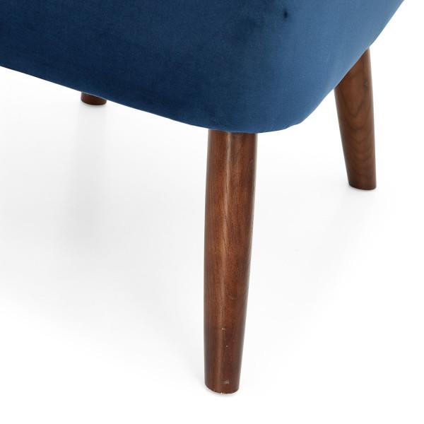 5: Velvet Cocktail Chair - Midnight Blue