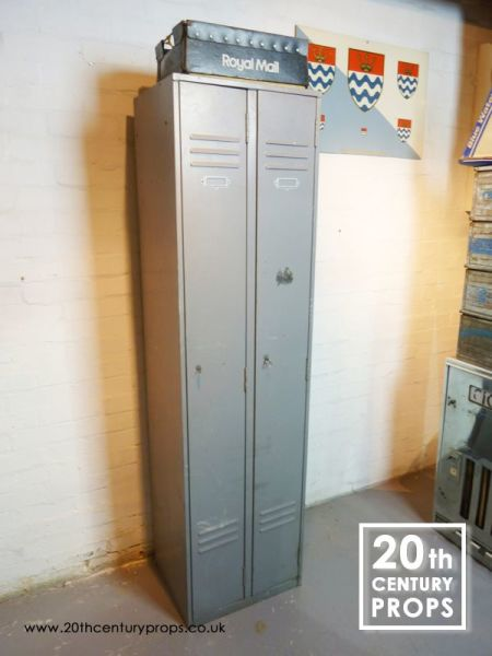 2: Metal industrial twin lockers
