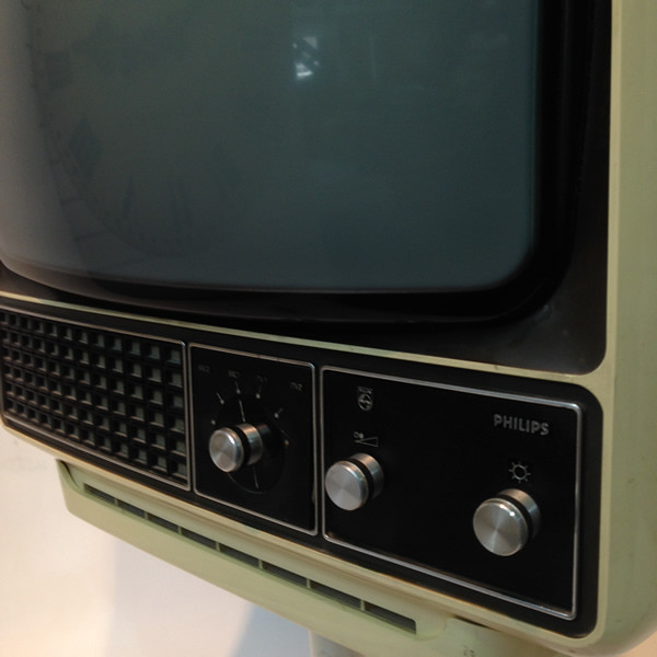 1: White 1960's Retro Phillips TV