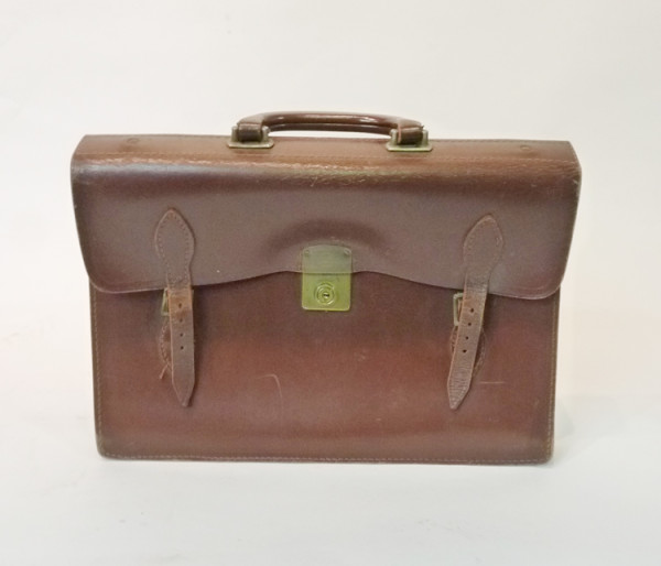 3: Brown Leather Satchel