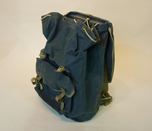 5: Blue Canvas Hikers Backpack