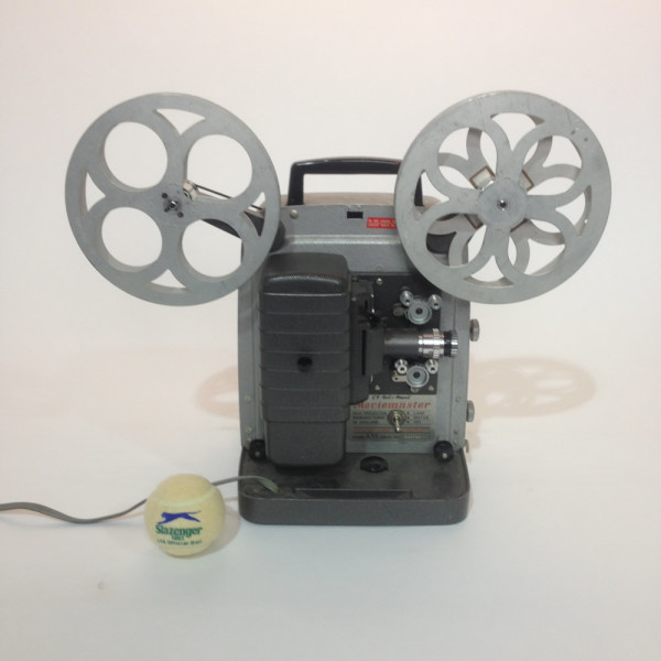1: Grey Retro Bell & Howell Moviemaster 8mm Film Projector