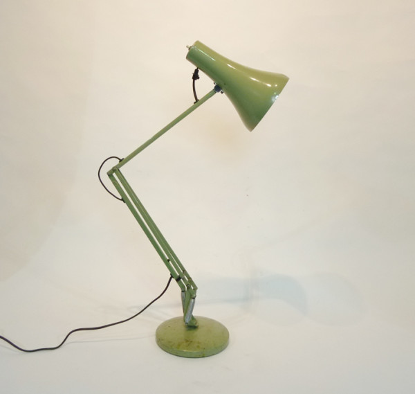 1: Green Industrial Angle Poise Desk Lamp