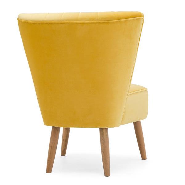 7: Velvet Cocktail Chair - Yellow
