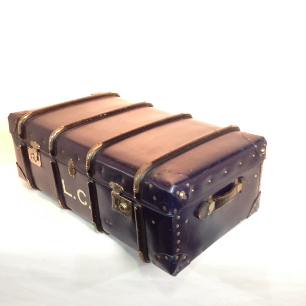 4: Large Dark Blue Travel Trunk