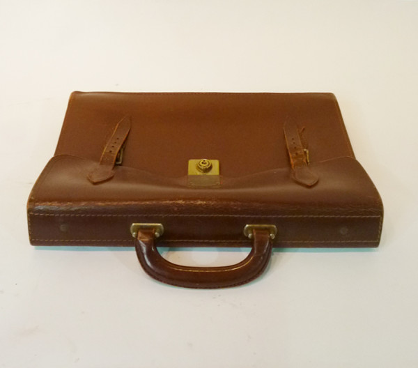 1: Brown Leather Satchel