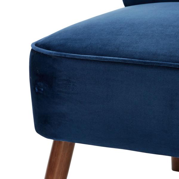 6: Velvet Cocktail Chair - Midnight Blue