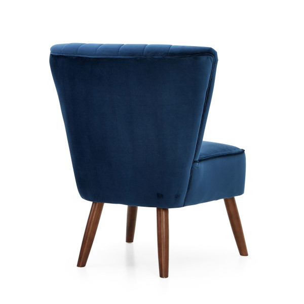 7: Velvet Cocktail Chair - Midnight Blue