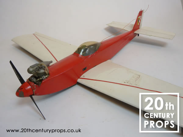 2: Model aircraft with petrol engine