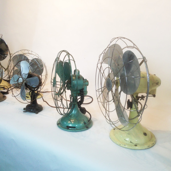 3: Vintage industrial desk fan - Green