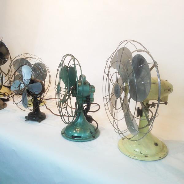 4: Vintage industrial desk fan - Green