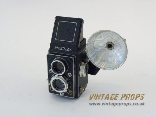 2: Semflex vintage camera with flash light