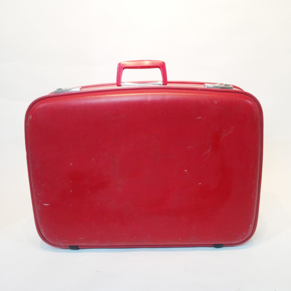 3: Red Hard Shell Suitcase