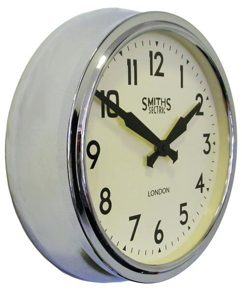 2: Smiths chrome retro wall clock