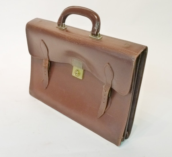 2: Brown Leather Satchel