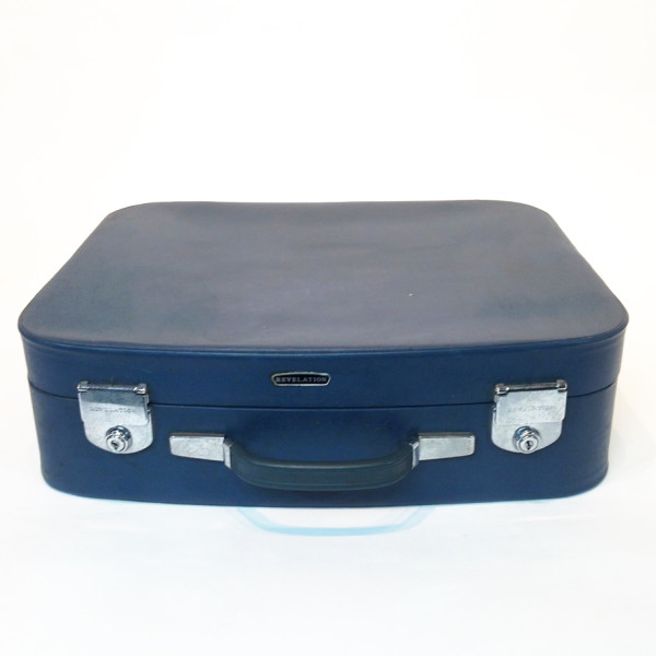 2: Blue Soft Leather Medium Suitcase