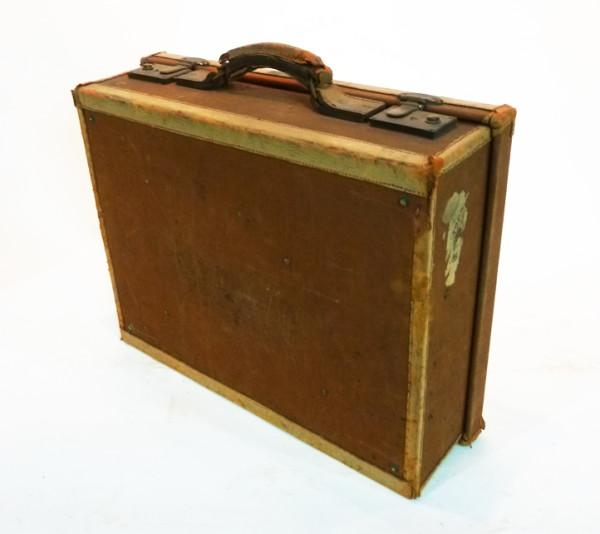 4: Brown Canvas Briefcase