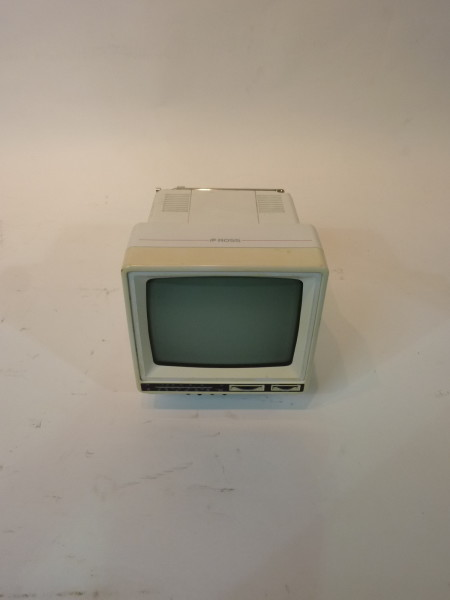 1: Mini Portable White 1990's TV