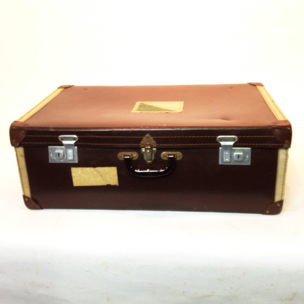 5: Large Brown Travel Case
