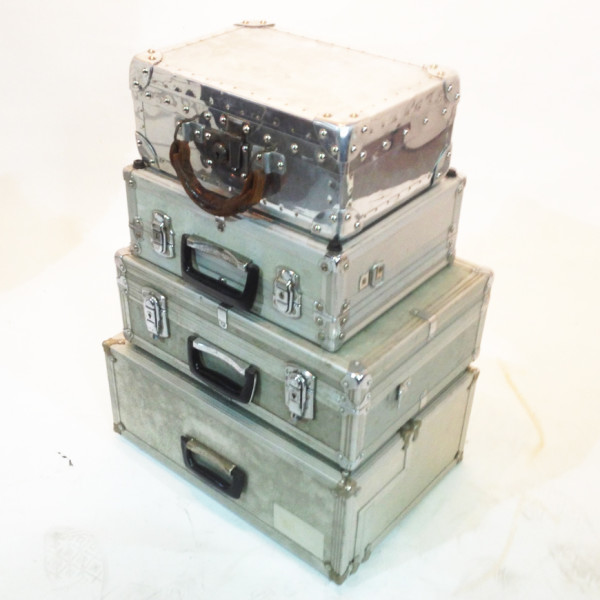 3: Stack of Metal Cases