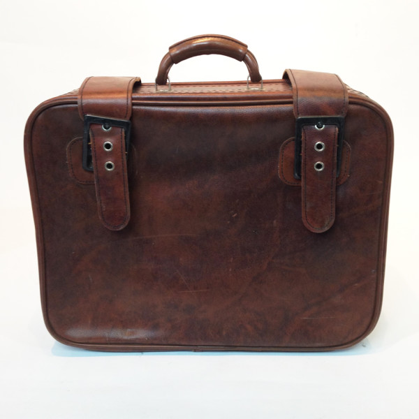 4: Light Brown Soft Leather Suitcase