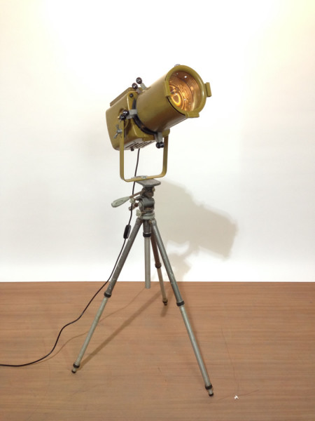1: Vintage Industrial 'Strand Electric' Spotlight