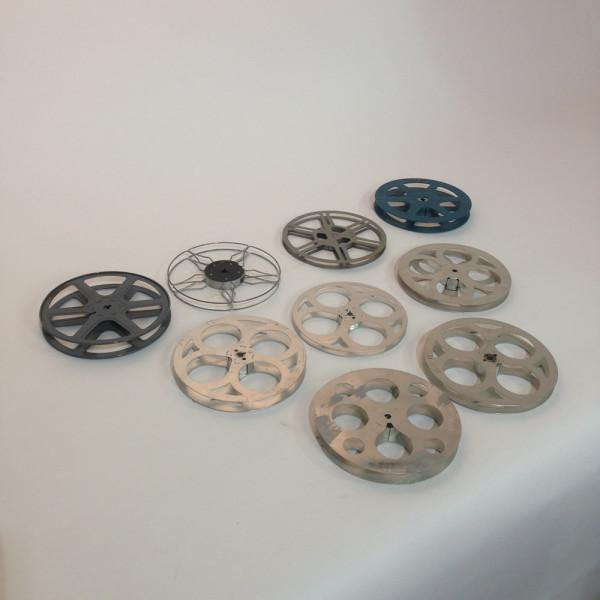 2: Medium Metal 8mm and 16mm Film Reels