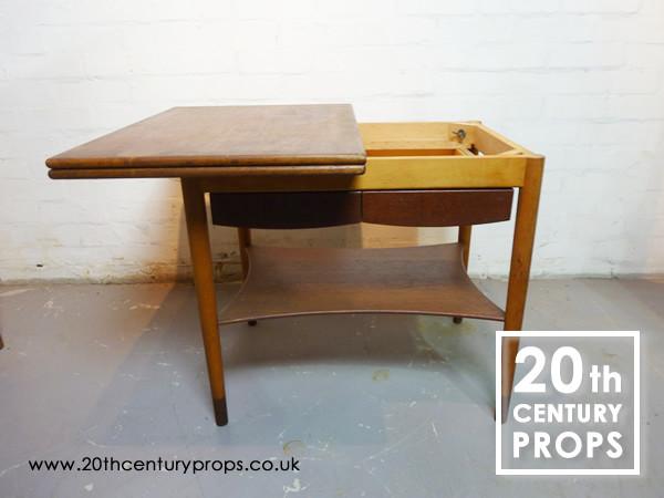 1: Danish folding side table
