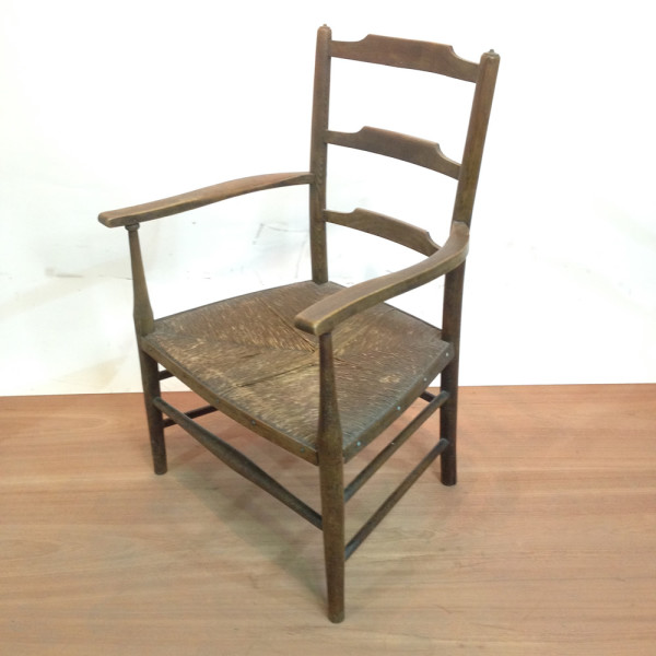 3: Vintage Wooden Armchair