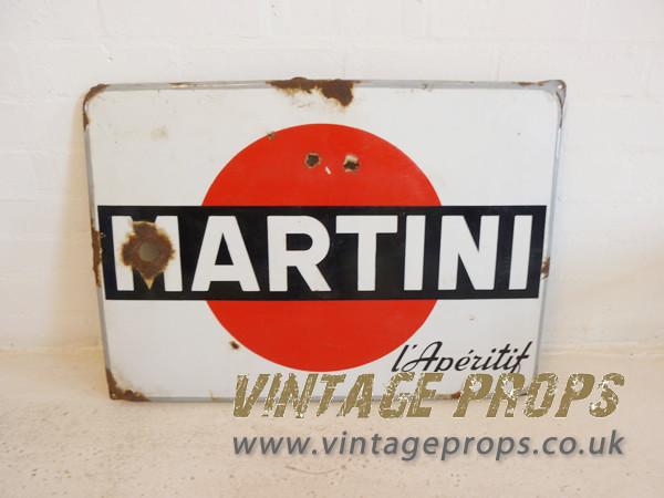 1: Enamel Martini advertising sign