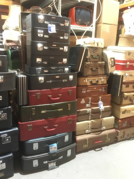 1: Stacks of Vintage Luggage