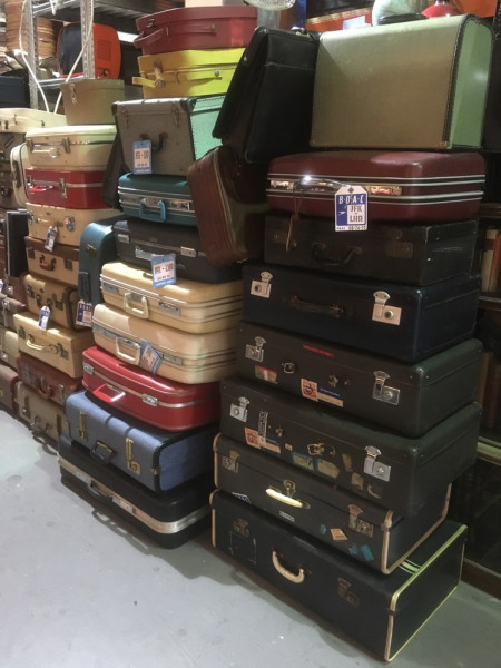 2: Stacks of Vintage Luggage
