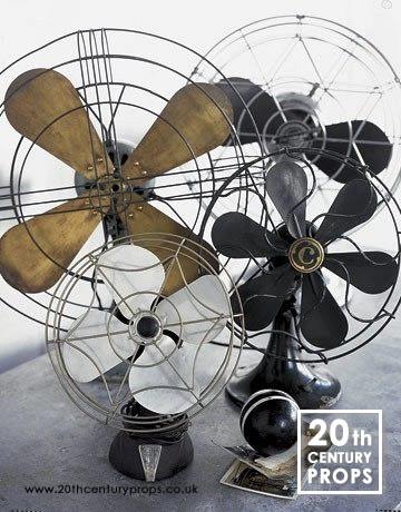 1: Vintage industrial fans